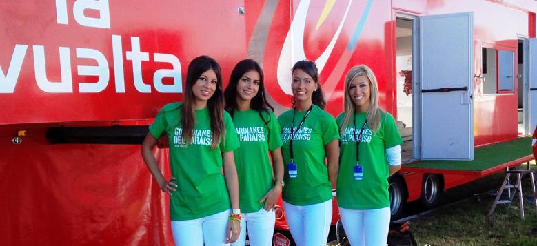 EVENTO AZAFATAS: vuelta ciclista / guardianes del Paraiso